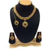 Shriya Traditional Designer Austrian Diamond Nacklace Set With Maang Tikka