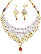 Peora 18 Karat Gold & Rhodium-plated Vil&i Necklace Set with Swiss zircons