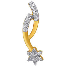 Jpearls Claw Shaped Diamond Pendant