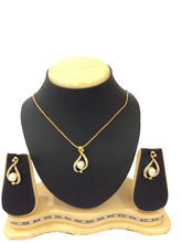 Shriya Pearl Gold Plated Pendant Set With Chain