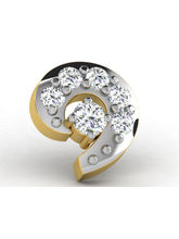 Sparkles 0.04ct Diamond Nosepin in 18 Kt Gold & Real Diamonds
