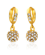Mahi Royal Gold Sparklers Earrings ER1100229G