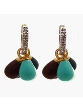 Nisa Pearls Cz Studded And Stones Drops Adorned Wi...