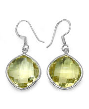 Lemon Topaz 14K Yellow Gold Plated Sterling Silver Earrings