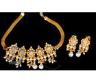 Ethnic Design Pearl Pendant Set