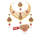 Vendee Fashion Bridal Necklace Jewelry Combo Offer (658)