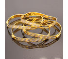 Vendee fashion Gold Silver Dancing CZ Bangles– 7528