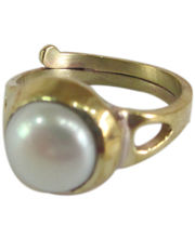 Galaxy Certified Pearl Folding Ring, Panchdhatu, Adjustable Ring Of Rashi Ratan Chandra