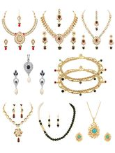 Voylla Combo Of Necklace Sets, Pendant Sets And Anklet-VLJAI60010