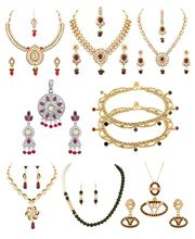 Voylla Combo Of Assorted Necklace Sets, Pendant Sets And Anklets-VLJAI60009