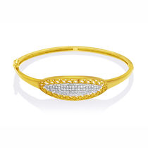Mahi Gold plated Slender Ellipse kada with CZ for Women BA1102199G