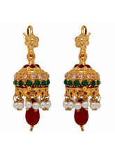 Nisa Pearls Gold Plated Jhumkis For Women