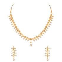 Voylla Gold Plated Necklace Set With Brilliant Cz Stones   PSJAI23179