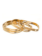 Voylla Set Of 4 Gold Plated Bangles Adorned With S...