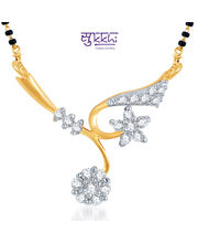 Sukkhi Elegant Wedding CZ Gold And Rhodium Plated Mangalsutra Pendant