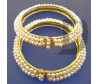 Tri Series Pearl Bangle