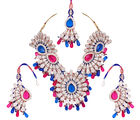 Fashionable Rani and Blue Stone Necklace Set PD_ 1124