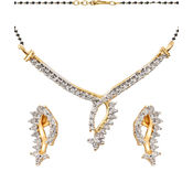 Shriya Silver Alloy Mangalsutra Set With Earring Set
