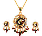 Vendee fashion peacock design diamonds pendant set (5125)