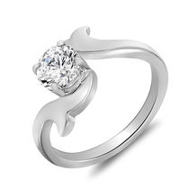 Mahi Rhodium Plated Round and Curves Fingerring made with Swarovski Zirconia for Women FR1105012R, 10