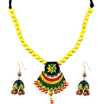 """ARTWOOD"""" Go Green With Envy"""" Bead Fusion 3 Piece TerraCotta Jewellery Set"""