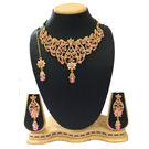 Shriya Beautiful Austrian Diamond Nacklace Set With Maang Tikka