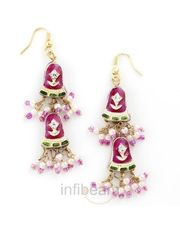 In-Style Handcrafted pair of Lacquer Earrings_ 27