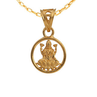 Asure Jewel The Lakshmi Pendant Gold Pendant