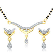 Mahi Gold Plated Sacred Knot Mangalsutra Set with CZ for Women NL1106005G