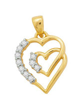 Kiara Sterling Silver Beautiful Heart With 10 Diam...