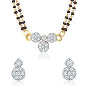 Mahi Gold Plated Bridal Chic Mangalsutra Set with CZ for Women NL1106001G2