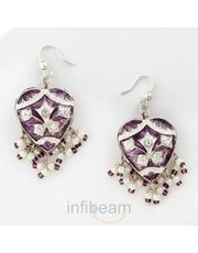 Beautiful Heart Shaped pair of Lacquer Earrings_ 26