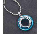 Silver And Agate Ring Necklace