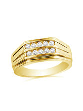 JPEARLS Explode Diamond Finger Ring For Men