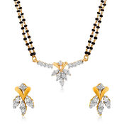 Mahi Gold Plated Celestial Love Mangalsutra Set with CZ for Women NL1101520G2