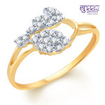 Sukkhi Incredible Gold and Rhodium Plated CZ Ring, 7
