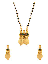 Voylla Lustrous Single Chain Coin Collection Mangalsutra Set Adorned With CZ And Colored Stones - SCBOM22181