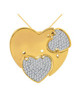 Cygnus Real Diamond Pendant with 18Kt Yellow Gold PD7185