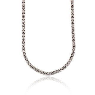 Svvelte Men's Stainless Steel Unusual Link Chain
