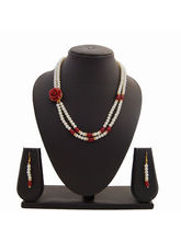 Nisa Pearls Creative Necklace Set Studded With Pea...