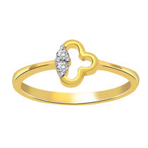 Cygnus Real Diamond Ring With 18Kt Yellow Gold RG10790
