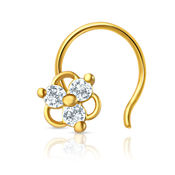 Mahi Gold Plated Darling Nosepin with CZ for Women NR1100132G