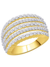 Peora Gold-plated Ring with Swiss zircons (5)