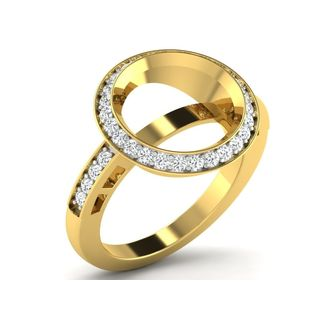 Fullcutdiamond 0.63 Cts Diamond Ring In Gold & Rea...