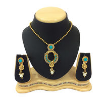 Shriya 18 Karat Gold Plated Designer Necklace Set With Austrian Diamond