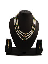 Nisa Pearls Women's Pearl Necklace Set With Black ...