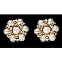 Pearl Cz Stone Earrings