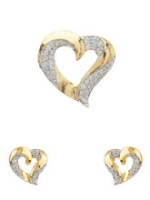 Voylla Heart Pendant Set Without Chain Embellished With Shiny CZ-SCCCU20464