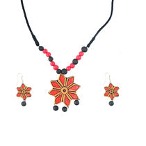"""ARTWOOD"""" Red Rose In Nature"""" Bead Fusion 3 Piece TerraCotta Jewellery Set"""