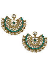 Voylla Cz, Pearl Bead Encrusted Pretty Earrings With Gold Plating-SCBOM20046